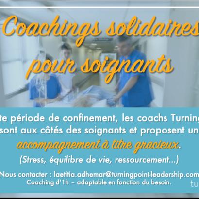 Offre de coachings solidaires pour les soignants